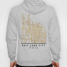 SALT LAKE CITY UTAH CITY STREET MAP ART Hoody