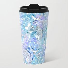 Blue and cornflower leaves. Travel Mug