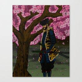 Sakura Tree Samurai Canvas Print