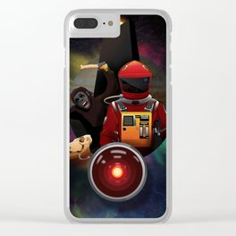 2001: A Space Odyssey T-Shirt Clear iPhone Case