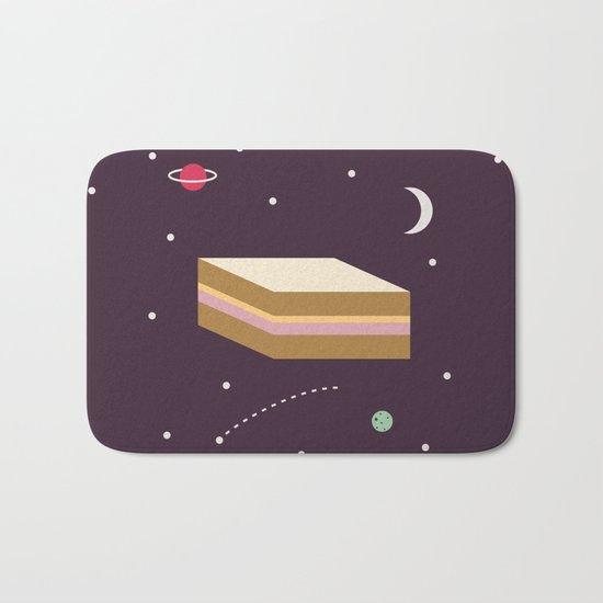 Ham & Cheese in Space Bath Mat