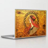 nouveau Laptop & iPad Skins featuring Steampunk Nouveau by Nana Leonti