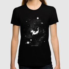 Otter Space LARGE Womens Fitted Tee Black