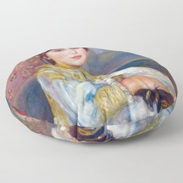 Pierre-Auguste Renoir artwork - Child with Cat Floor Pillow