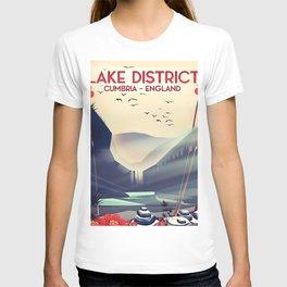 Lake district, Cumbira Travel poster. T-shirt