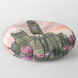 London Pink Floor Pillow