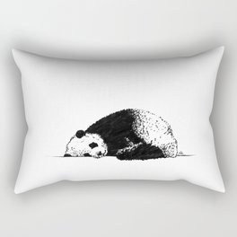 Sleepy Panda Rectangular Pillow