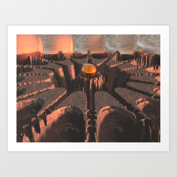 Reflections of Another Planet Art Print