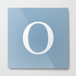 Letter O sign on placid blue background Metal Print