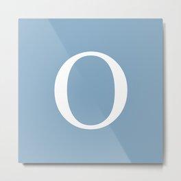 Letter O sign on placid blue background Metal Print