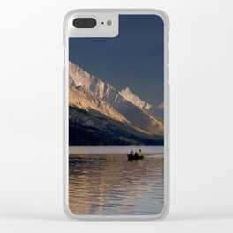 Sunset Over Waterton Lakes National Park Clear iPhone Case