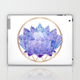 Violet Zen Lotus Laptop & iPad Skin