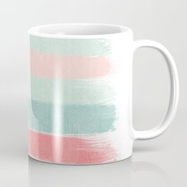 Stripes painted coral minimal mint teal bright southern charleston decor colors Coffee Mug