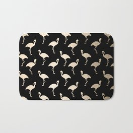 Flamingo Pattern Gold + Black Bath Mat