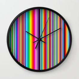 Candy Stripes Wall Clock