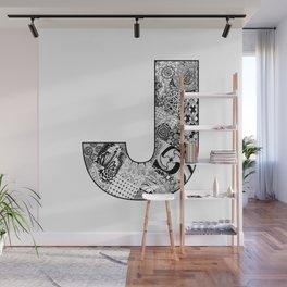 Cutout Letter J Wall Mural