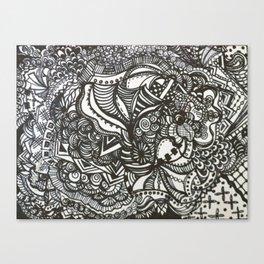 flowering doodle Canvas Print