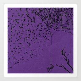 Down The Web Art Print