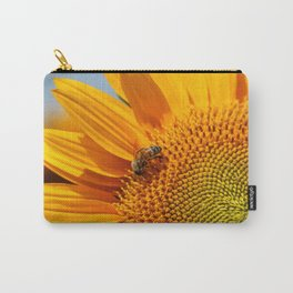 Sunflower & Bee Carry-All Pouch