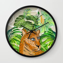Tropical Leo Wall Clock