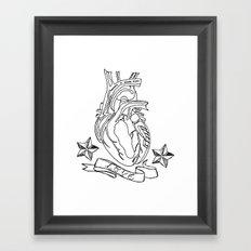 Love heart Framed Art Print