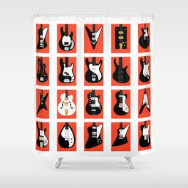 The Classic Electric Guitar Gallery Shower Curtain