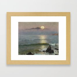 Guillermo Gomez Gil, 1862 - 1946, Moonlight Framed Art Print