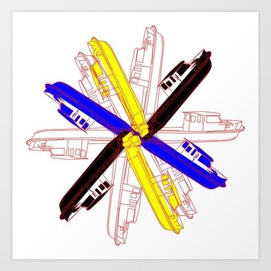 Color Gama Boats Art Print