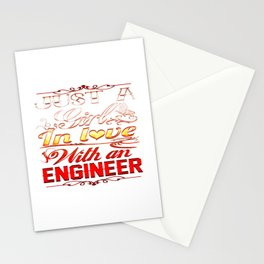 Love with an Engineer Stationery Cards