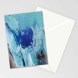 Overflowing Blue Abstract Stationery Cards