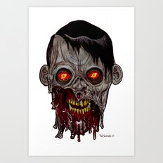 Heads of the Living Dead Zombies: Stare Zombie Art Print