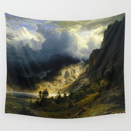 Albert Bierstadt - A Storm in the Rocky Mountains, Mt. Rosalie Wall Tapestry