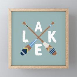 LAKE LIFE Painted Paddle Oars Framed Mini Art Print