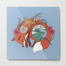 Sea Fox Metal Print