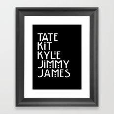 American Horror Names Framed Art Print