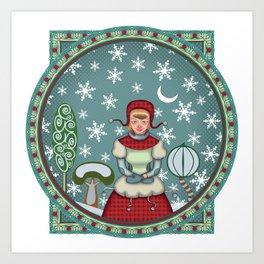 version of peaceful snow 2 Art Print