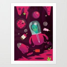Neon Space Art Print