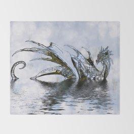 Blue Dragon Throw Blanket