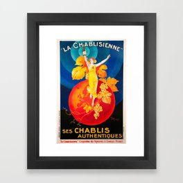 Vintage Poster - La Chablisienne, Ses Chablis Authentiques - Vintage French Advertising Poster Framed Art Print