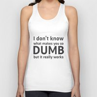 sarcasm Tank Tops featuring Sarcasm Quote by JasmineLeflore