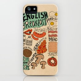 English Breakfast iPhone Case