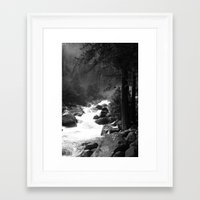 archan nair Framed Art Prints featuring Whiteout Yosemite-2 by Deepti Munshaw