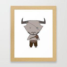 Iron Bull Framed Art Print