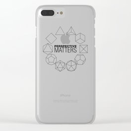 Perspective Matters Clear iPhone Case