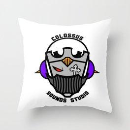 Colossus Sounds Studio Logo Black Throw Pillow