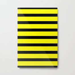 Bumblebee Stripes Metal Print