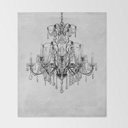 belle époque chandelier Throw Blanket