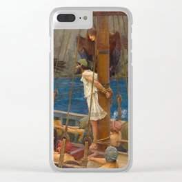 "John William Waterhouse ""Ulysses and the Sirens"" Clear iPhone Case"