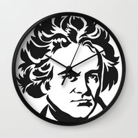 beethoven Wall Clocks featuring Beethoven by b & c