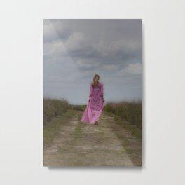 Waking on a rural path Metal Print